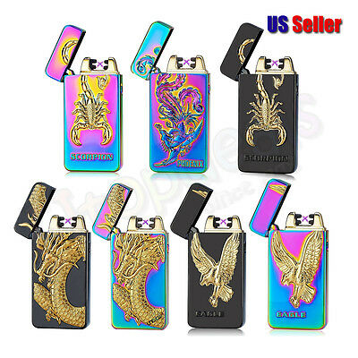Double Arc USB Windproof Rechargeable Flameless Electronic Lighter | US Seller