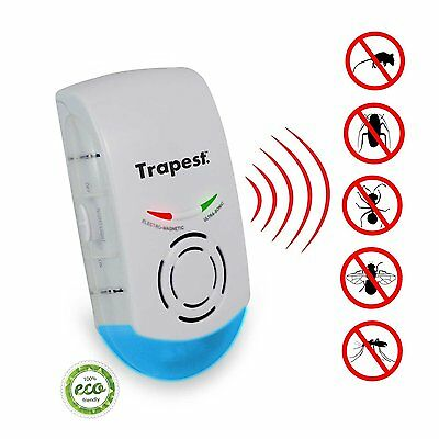 Ultrasonic Pest Repeller Electronic 3 in 1 UK Plug Deters Mice Spiders & More