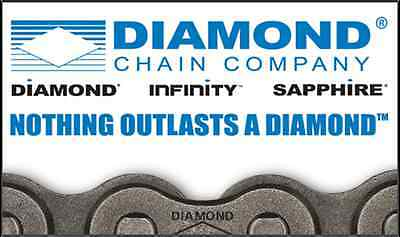 "High Quality #60 Diamond Roller Chain 10' Box with Connecting Link ""Made in USA"""
