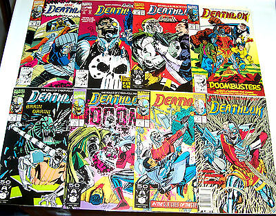 DEATHLOK #1-8 NM- Marvel's Agents of SHIELD! WOLVERINE! PUNISHER! FF! 1991