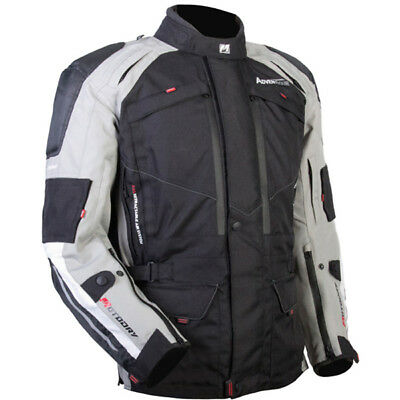 MotoDry NEW Advent-Tour Motorcycle Black Grey Dual Road Offroad Adventure Jacket