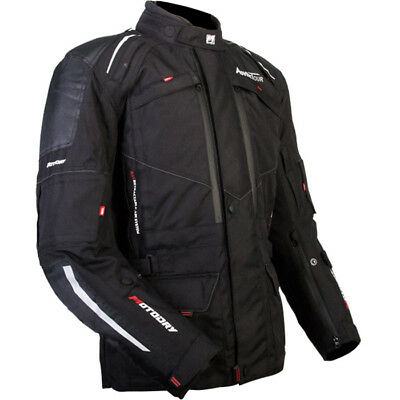 MotoDry NEW Advent-Tour Motorcycle Black Dual Road Offroad Adventure Jacket