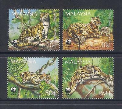 (UXMY011) MALAYSIA 1995 Endangered Species Clouded Leopard fine used set
