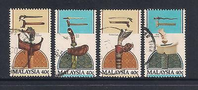 (UXMY050) MALAYSIA 1984 Traditional Malay Weapons fine used set