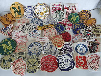 SOUTH CENTRAL ONTARIO SPORTS badge patch lot of 115 - vintage early 70s