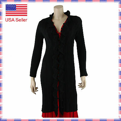 209 Women Stretchy Ballroom Latin Country Party Warmup Dance Coverup Long Jacket