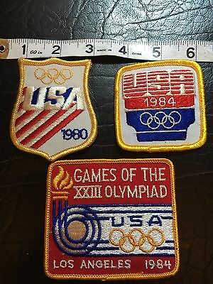 Lot Of 3 Vintage Olympiad Patches USA Los Angeles 1980 Sewing