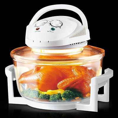 12L Litre Halogen Oven Premium White Convection Cooker With Accessories 1300W