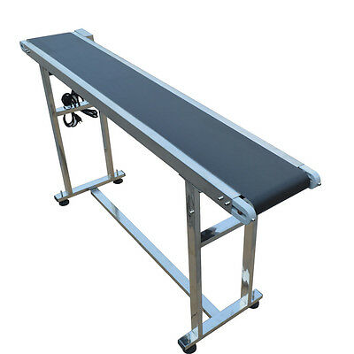 "TechTongda 110V Power Slider Bed PVC Belt Conveyor 59"" x 7.8"" Hot Sale,New Best"