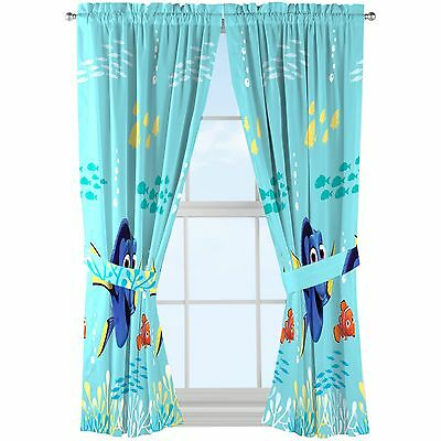 Disney Finding Dory Drapes   Set of 2