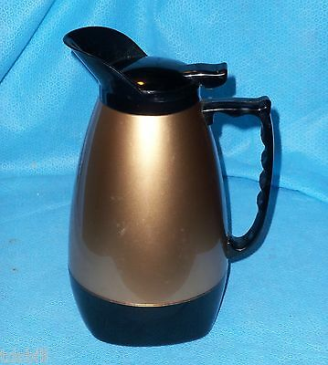 Brandware / West Bend Thermo-Serv Insulated Coffee Carafe Pitcher Gold & Black