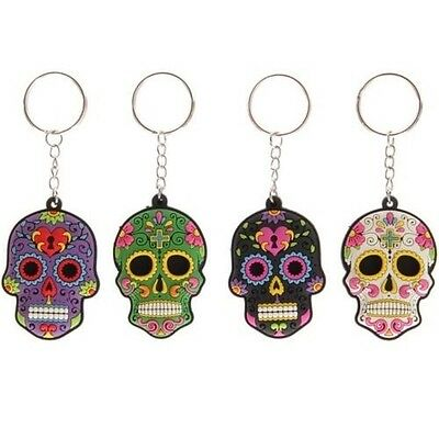 porte-clé CRÂNE mexicain CALAVERA SUGAR SKULL day of the dead TÊTE DE MORT