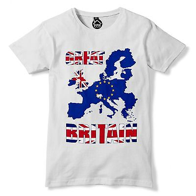 f2ca5723 Great Britain Europe Map Independence Day Brexit EU 23rd June Leave T shirt  236
