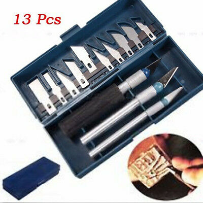 1 Set / 13Pcs Arts Multipurpose Exacto knife Engraved Paper Knife Style Hobby