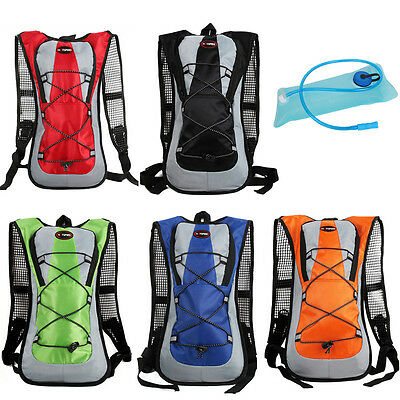 2L Water Hydration Bladder Bag Rucksack Pack Backpack Cycling Running Camping
