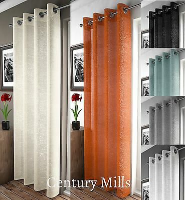 Adele Shimmer Voile Curtain Panel,voile Net Curtains,ring Slot Top, 6 Colours