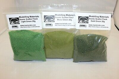 Scenic Flock Material Green Multipack - 3 x 20g Packs - Hornby Wargame Diorama