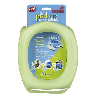 Reusable Liner for Potette Plus Travel Potty - easy to remove and clean GREEN