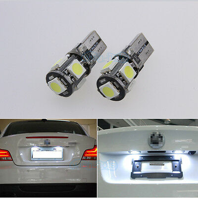Number Plate LED Light Bulbs For Vauxhall Corsa C D VXR 05-11- Xenon White