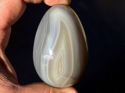 AGATE BLEUE OEUF 251gr Pierre Polie ~8750 Natural BLUE AGATE EGGS Polished Stone