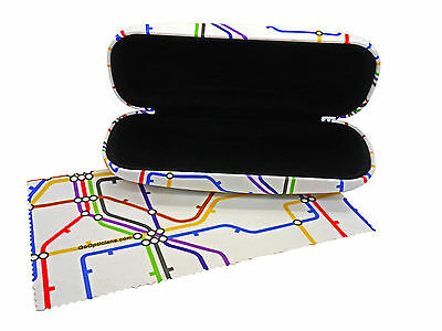 Unisex GoOpticians Underground Map Hard Glasses Case / Optional Microfibre Cloth