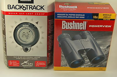 Bushnell Premium Outdoor Pack Fernglas PowerView 10x42+BackTrack GPS Navigation