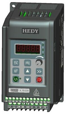 INVERTER VETTORIALE HEDY TRIFASE 400 Volt kw 0.37 AC DRIVE 0.5 HP MOTORE