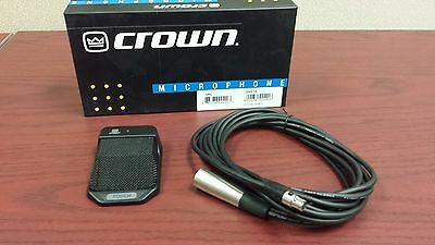 Crown PCC130SW Cardiod Table Top Microphone with Programmable Membrane Switch