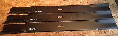"Set of 3 Blades for Buhler Farm King 84"" Cut Finish Mower code 966167"