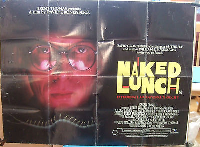 David Cronenbergs THE NAKED LUNCH(1990)Original UK quad cinema poster