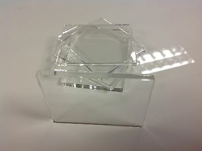 acrylic stamping block 3mm Thick, Made In The UK *NEW For 2014