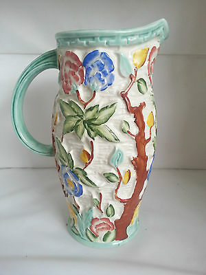 Vintage Handpainted H J Wood Indian Tree Jug
