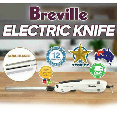 Electric Knife Stainless Steel Breville Ezy Carve Multi Purpose Carving Blades