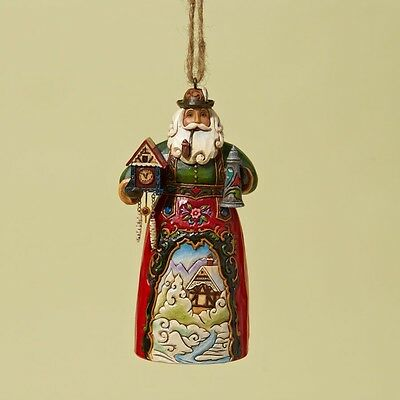 JIM SHORE HEARTWOOD CREEK 4022938 German Santa Ornament