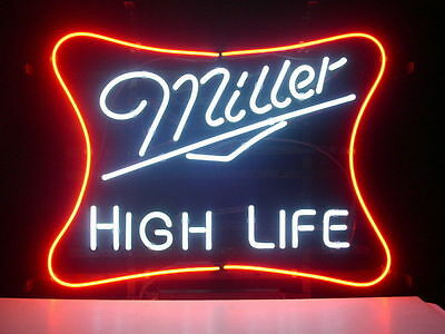 New Miller High Life Real Glass Neon Light Sign Home Beer Bar Pub Sign