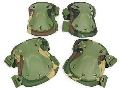 Military USMC Army SWAT Tactical Protection Knee Elbow Pad Set Knee Elbow Pads