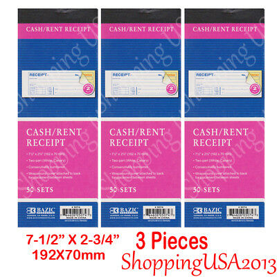 10 Pcs Money Rent/ Cash Receipt Book Carbonless Form 50 Sets 2 Parts @@
