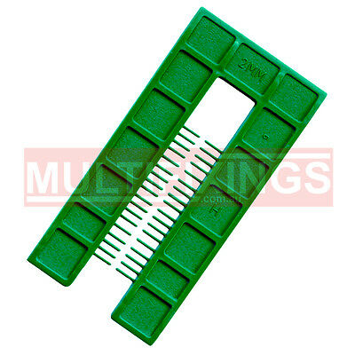 200pcs - 2mm Green - 50mm x 100mm Plastic Window Packers and Levelling Shims