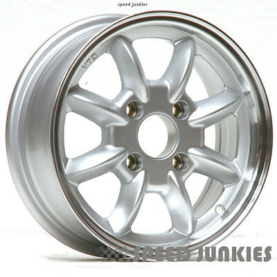 Mg New Set Of Four 5.5  X 14   Mgb  Wheels  Silver With Polished Rim Race X3107