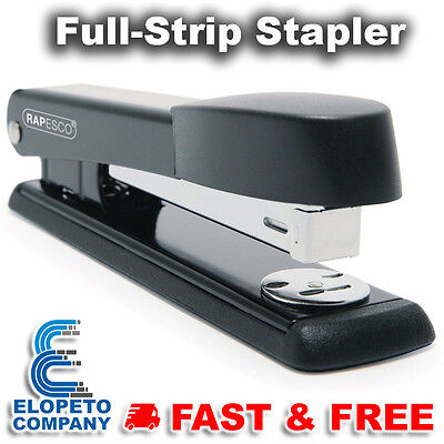Stapler Full-Strip Black Metal Office Desk Heavy Duty Durable 24/6 26/6 Staples