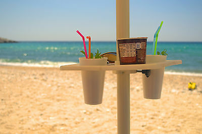 Cup holder for beach and pool umbrellas