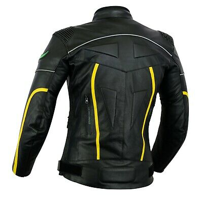 Mens RIDEX Biker Motorbike Motorcycle LJ2-R Leather Jacket with CE Armours