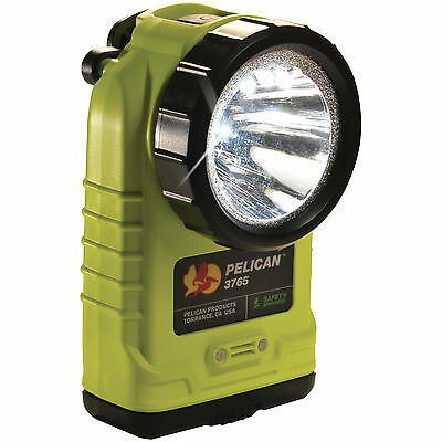 Pelican 3765 Rechargeable LED Flashlight with PL Shroud and Charger (Yellow)