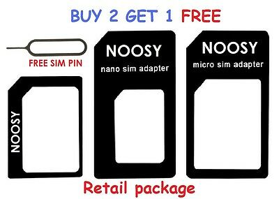 4 In 1 Pack Nano To Micro & Standard Sim Card Adapter For Iphone Samsung Htc