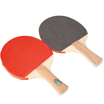 Table Tennis Racket Professional Ping Pong Paddle Bat W/3 Balls Sports