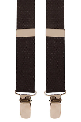 8-12yrs Kids Pale Black Wedding Pageboy Children Trouser Braces Suspenders