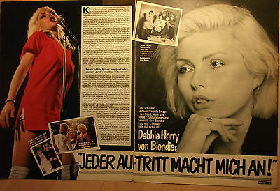 2 german clipping BLONDIE DEBBIE HARRY NOT SHIRTLESS ROCK PUNK BOY BOYS BAND `79