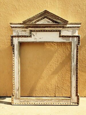 Vintage Overmantle or Mirror Frame Shabby Chic Cottage with Chippy Paint