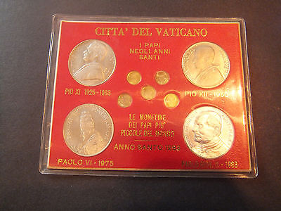 1925 - 1983 Vatican City Popes Of The Holy Years Coin / Medal Set