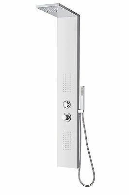 Stainless Steel Bathroom Shower Panel Tower Body Spray Jet Thermostatic Control